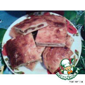 Рецепт Творожный пирог с яблоком и изюмом
