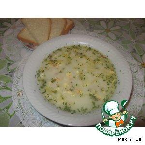 Рецепт Сырный суп с сырной лапшой