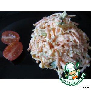Рецепт Острый салат из моркови и сыра