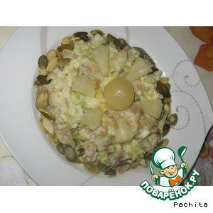 Рецепт Салат рыбно-авокадный