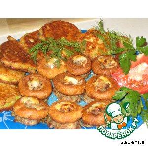 Рецепт Фаршированные сушки с кабачками в сырном кляре