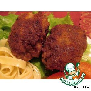 Мясные котлеты со шпротами вкусный рецепт приготовления с фото