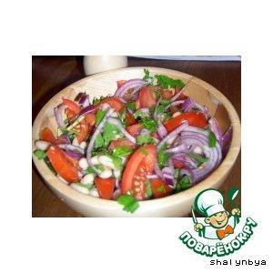Рецепт Итальянский салат из белой фасоли