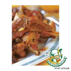 Кролик  по-мальтийски рецепт приготовления с фотографиями пошагово