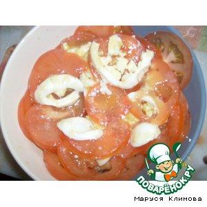 Рецепт Салат из помидоров и яиц по-франзузски