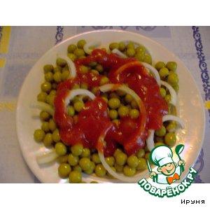 Рецепт Зелeный горошек как гарнир