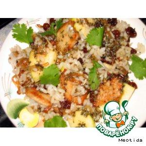 Рецепт Салат из риса с индейкой