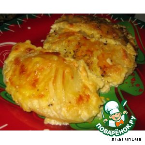 Рецепт Картофель, запеченный в сыре
