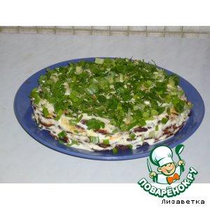 Рецепт Закусочный тортик из печени