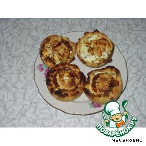 Рецепт Жаренный киш с помидорами и сыром