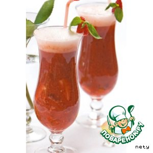 Рецепт Мохито из шампанского, клубники и базилики