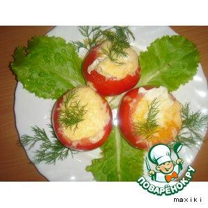 Рецепт: Завтрак из помидоров с яйцом