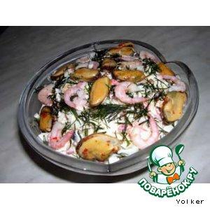Рецепт Салат-коктейль из морепродуктов