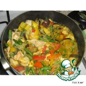 Рецепт Сотэ из курицы с балканским акцентом