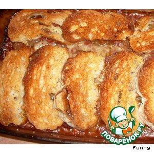Рецепт Итальянский пирог с курицей и кабачком