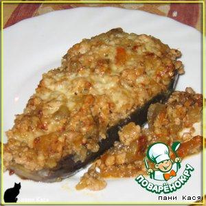 Рецепт Баклажанные лодочки с мясом