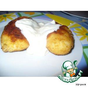 Рецепт Картофельные зразы с курятиной и шампиньонами
