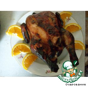 Рецепт Курица, запеченная целиком