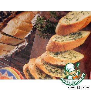 Чесночный хлеб простой рецепт приготовления с фото