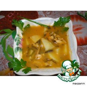 Рецепт Суп рыбный с морской капустой