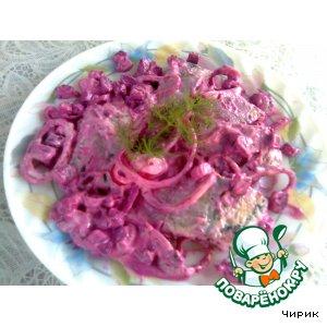 Рецепт Сельдь в розовом соусе
