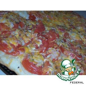 Рецепт Фокачча с помидорами и сыром
