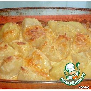 Рецепт Печеный картофель под белым соусом