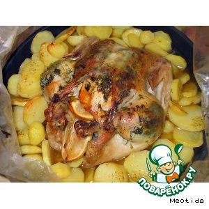 Рецепт Курочка с картошечкой и лимончиком
