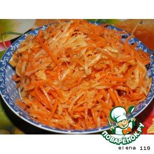 Рецепт Салат из моркови и дайкона