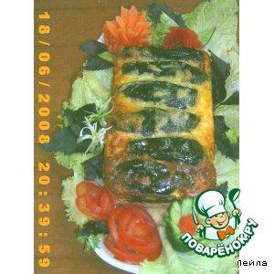 Рецепт Пирог слоеный с баклажанами