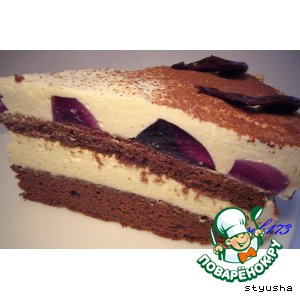 торт с кремом чиз рецепт с фото