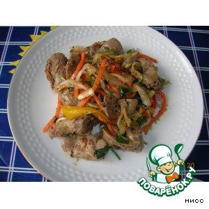 Рецепт Хе из куринных желудков