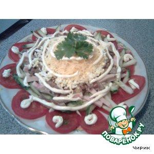 Рецепт Слоeный овощной салатик