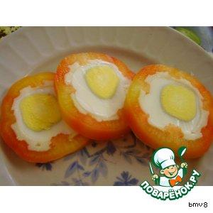 Рецепт Перец фаршированный яйцом