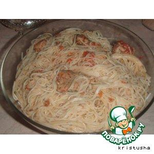 Рецепт Спагетти с мясом и томатным соусом
