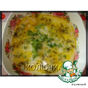 Рецепт Сырный супчик с луком порей