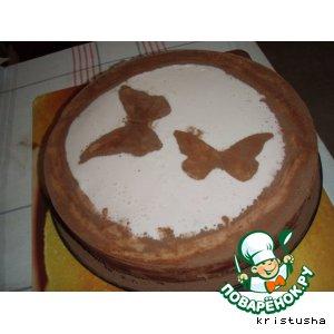 Рецепт Творожно-клубничный торт