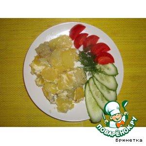 Рецепт Рыбка, запеченная с картошкой