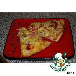Рецепт Пицца с курицей и пицца с салями