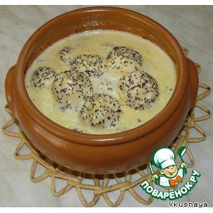 Сырники в маковом соусе
