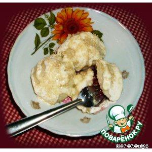 Рецепт: Кнедлики  со сливой  по - Шлeнски. Рецепт от пани Халинки