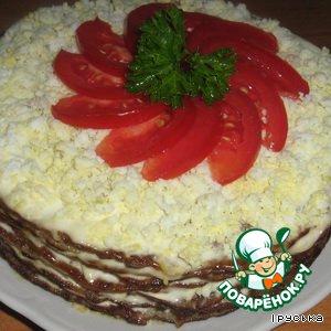 Рецепт: Торт печеночный