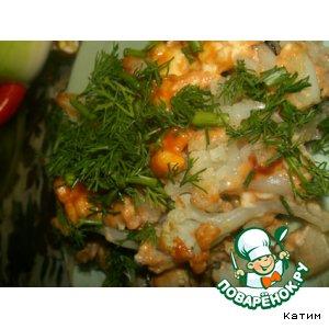 Рецепт Запеканка из курицы и цветной капусты