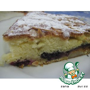 Рецепт Пирог с бананами, инжиром и ежевикой
