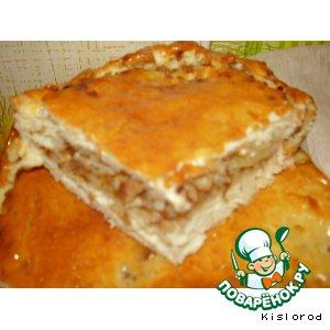 Рецепт Пирог с мясом и гречкой