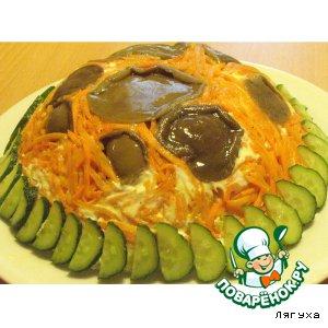 Рецепт Салат из маслят с морковкой по-корейски
