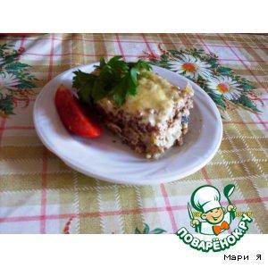 Рецепт Запеканка из гречневой каши с курицей и грибами
