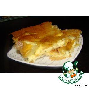 Рецепт Сырный пирог из теста фило