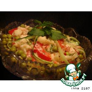 Рецепт Салат из цветной капусты с куриной грудкой