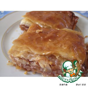 Рецепт Яблочная   баклава   с   медом   и   орехами